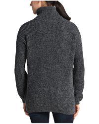 BOSS Orange | Gray Polo Neck Sweater 'inessal' In A Knitwear Mix | Lyst