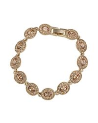 Carolee - Metallic Gold-plated Oval Flex Bracelet - Lyst