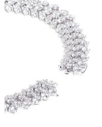 CZ by Kenneth Jay Lane - White Multi Cut Cubic Zirconia Collar Necklace - Lyst
