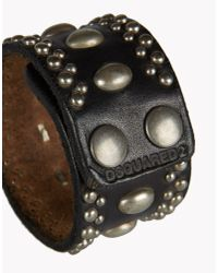 DSquared² | Black Mix Studs Armlet for Men | Lyst