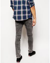 Native Youth - Black Acid Wash Skinny Jean for Men - Lyst