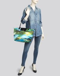 Longchamp - Blue Tote - Le Pliage Neo Fantaisie - Lyst