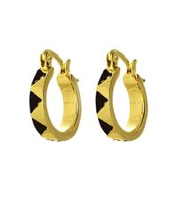House of Harlow 1960 | Metallic Enamel Huggie Earrings | Lyst