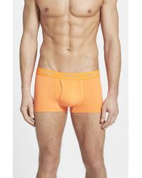 DIESEL | Orange 'umbx Divine' Boxer Briefs for Men | Lyst