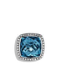 David Yurman - Blue Albion Ring With Diamonds, 20mm Gemstone - Lyst