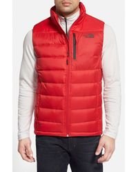 The North Face | Red 'Aconcagua' Down Vest for Men | Lyst