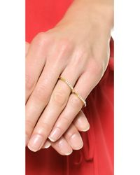 Elizabeth and James - Metallic Two Finger Artic Ring - Lyst
