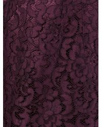 Dolce & Gabbana - Purple Floral Lace Skirt - Lyst