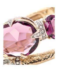 Roberto Cavalli - Metallic Crystal-embellished Cuff - Lyst