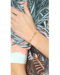 Tai - Metallic Small Pyramid Bracelet Gold - Lyst