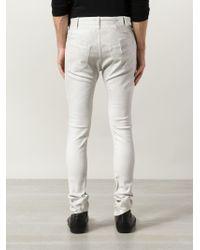 Julius   White Panelled Skinny Jeans for Men   Lyst