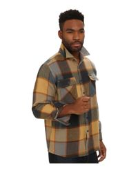 Brixton | Yellow Bowery Long Sleeve Flannel for Men | Lyst