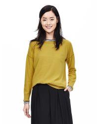 Banana Republic | Yellow Tipped Italian Cashmere-blend Sweater | Lyst