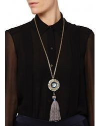 Matthew Williamson | Blue Jewelled Pendant Necklace | Lyst