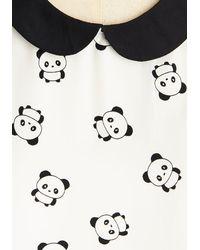 Peach Love California - White Classy Collector Top In Pandas - Lyst