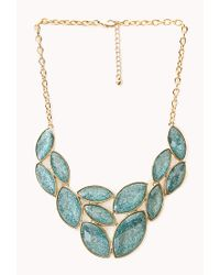 Forever 21 | Blue Sparkle Bib Necklace | Lyst