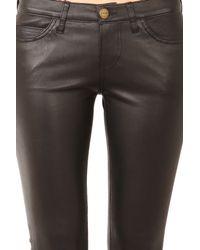 Current/Elliott Black Ankle Zip Skinny Leather Pant