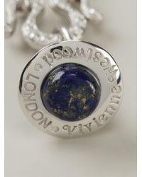 Vivienne Westwood Blue Orb Pendant Necklace