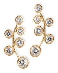 Rina Limor - Metallic 18k Yellow Gold & Diamond Climber Earrings - Lyst