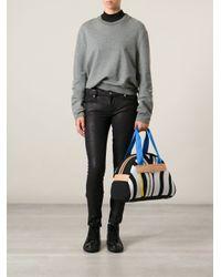 Y-3 Multicolor Printed Tote Bag