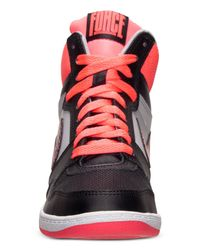Nike - Black Women'S Force Sky High Casual Sneakers From Finish Line - Lyst
