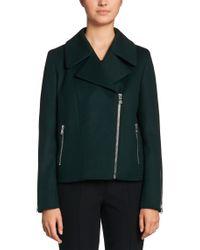 HUGO | Green 'fasilvi' | Virgin Wool Cashmere Blend Moto Jacket | Lyst