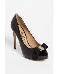 Ferragamo | Black 'rilly' Pump | Lyst