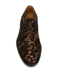 Givenchy - Black Floral Lace Derby Shoes - Lyst