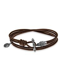 Platadepalo | Brown Leather Bracelet With Snake T-bar for Men | Lyst