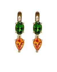 Ileana Makri | Green Women's Mixed-gemstone Earrings | Lyst