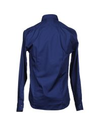 Class Roberto Cavalli - Blue Shirt for Men - Lyst
