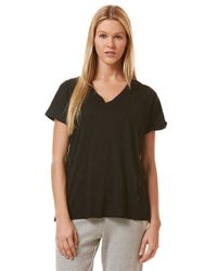 C&C California | Black Raw Edge Roll-Sleeve T-Shirt | Lyst