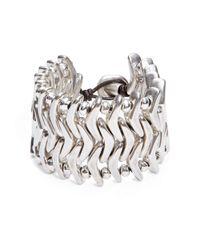Uno De 50 Metallic Where Am I Cuff Bracelet