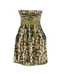 Lavand - Green Short Dress - Lyst