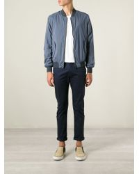 Herno   Blue Classic Bomber Jacket for Men   Lyst