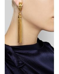 Ben-Amun Metallic Gold-Plated Clip Earrings