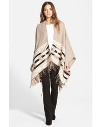 Vince Camuto - Brown Geometric Weave Cape - Lyst