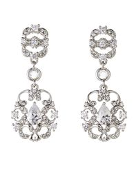 Nadri | Metallic Silver-Tone Filigree Earrings | Lyst