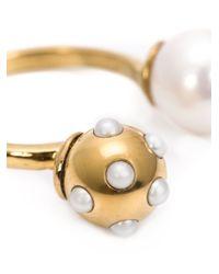 Nektar De Stagni | Metallic Pearl Detail Ring | Lyst