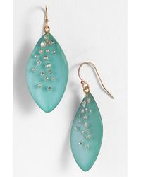 Alexis Bittar | Blue 'lucite - Dust' Long Leaf Statement Earrings - Aqua Opalescent | Lyst