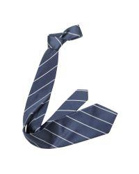 FORZIERI | Blue Pencil Stripe Silk Twill Tie for Men | Lyst