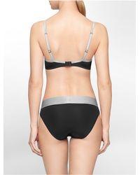 Calvin Klein | Black Underwear Steel Microfiber T-shirt Bra | Lyst