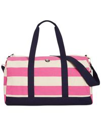 Tommy Hilfiger - Red Th Woven Rugby Stripe Medium Duffle - Lyst
