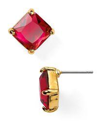 Lauren by Ralph Lauren | Pink Square Stud Earrings | Lyst