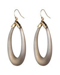 Alexis Bittar - Gray Liquid Metal Cap Soft Link Wire Earring - Lyst