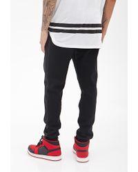 Forever 21 - Black Paneled Knit Sweatpants for Men - Lyst