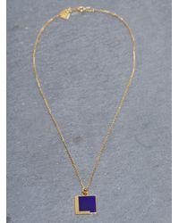 Lily Kamper - Blue Navy Alphabet Pendant: L - Lyst
