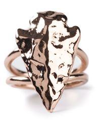 Pamela Love   Metallic Mini Arrowhead Ring   Lyst