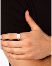 Seven London - Metallic Sterling Silver Signet Ring Exclusive To Asos for Men - Lyst