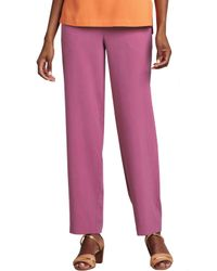 Go> By Go Silk - Red Silk Ankle Pants - Lyst